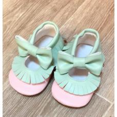 Pembe su yeşili ilk adım ayakkabısı