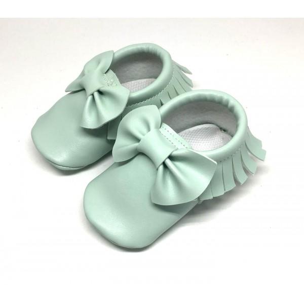 Su yeşili bebek ilk adım ayakkabısı